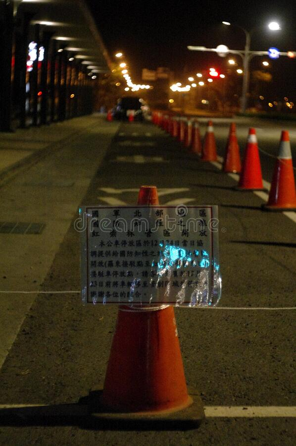 Traffic Cones On Street Free Public Domain Cc0 Image