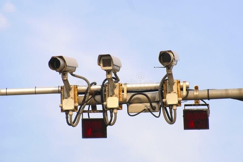 Traffic control cameras. The image of a Traffic control cameras stock photos