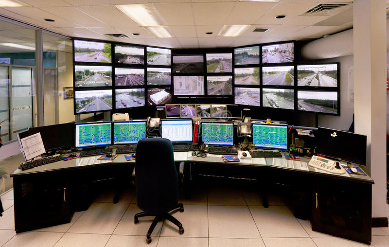 Traffic Control Command Center stock photography