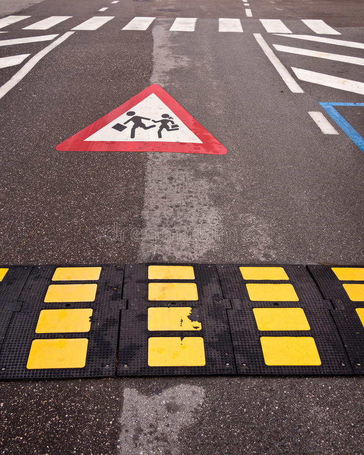 Download Traffic Control - Slow Down Children Crossing Stock Image - Image: 26953777