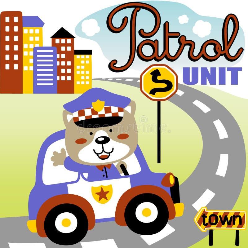 Traffic cop vector illustration
