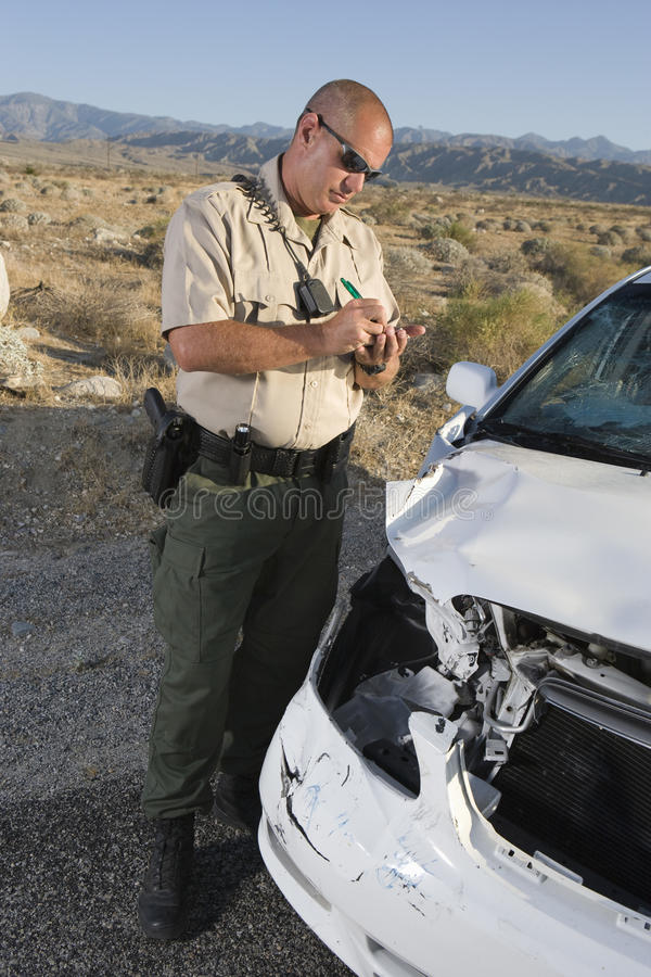 Traffic Cop Writing Ticket