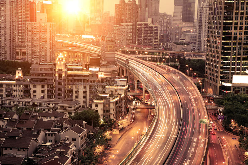 Download Traffic through downtown stock image. Image of dynamic - 19806953