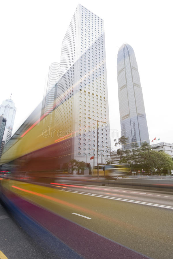Download Traffic Through Downtown In HongKong Stock Photo - Image: 13977464