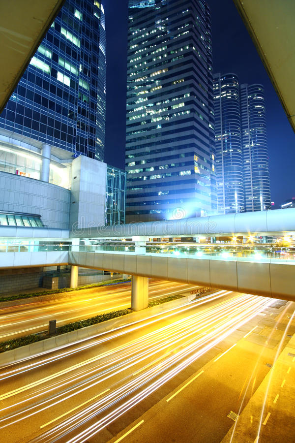 Download Traffic In Downtown At Night Stock Image - Image: 19413177