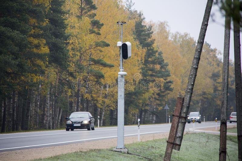 Highway And Radar Speed Camera Stock Photo - Image of