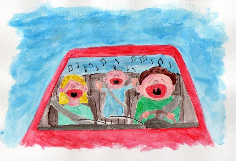 Download Traffic: Family singing stock illustration. Image of illustrations - 15197107