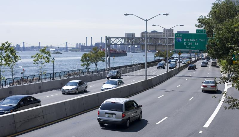 Traffic on FDR Drive royalty free stock photos