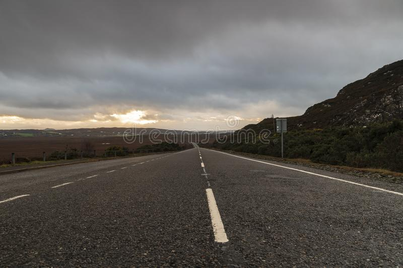A830. A traffic free view along the A830 towards Back of Keppoch in Morar, Scotland stock images