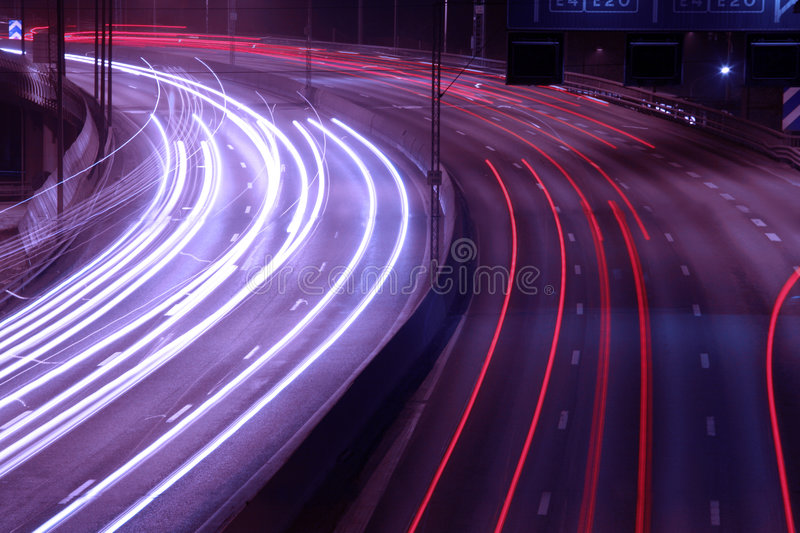 Traffic on a freeway stock image