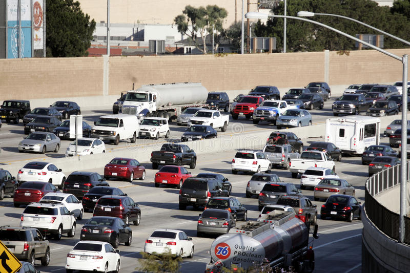 Traffic on 405 Freeway Los Angeles. Traffic on the 405 fwy in Los Angeles, CA royalty free stock photography
