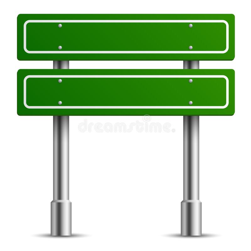 Free Traffic Green Sign. Board Road Text Panel, Location Street Way Signage Template, Direction Highway City Blank Realistic Stock Photos - 217123353