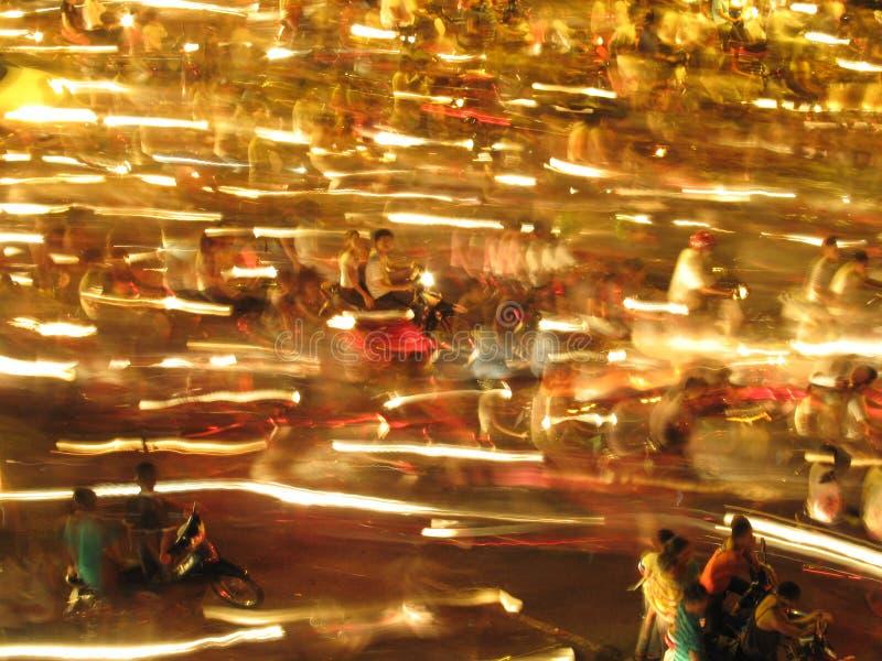 Traffic in Hanoi Vietnam royalty free stock photo