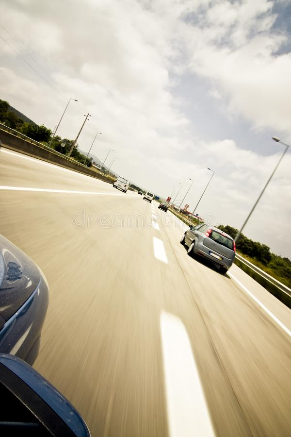 Traffic at the highway stock photography
