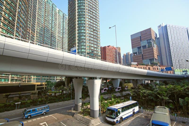 Traffic highway in urban area. In Hongkong royalty free stock image