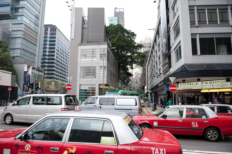 Download Traffic On Hong Kong Street Editorial Photography - Image: 23142372