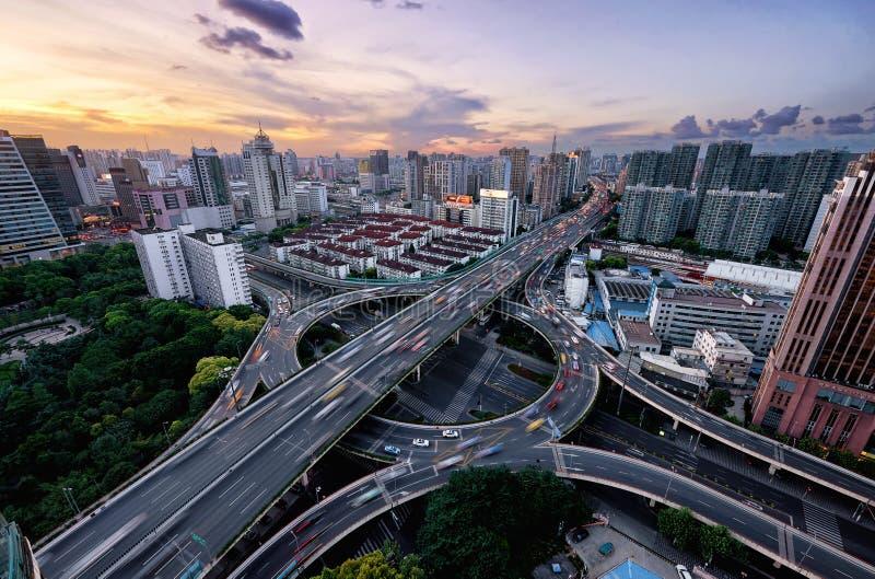 Traffic hour, Shanghai royalty free stock photos
