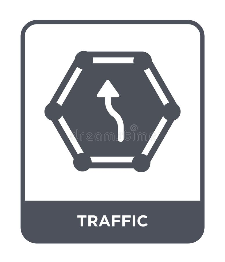 Traffic icon in trendy design style. traffic icon isolated on white background. traffic vector icon simple and modern flat symbol. For web site, mobile, logo royalty free illustration