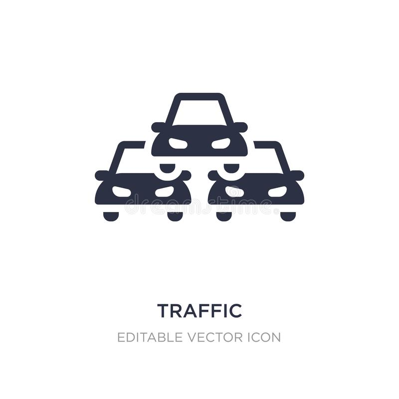 traffic icon on white background. Simple element illustration from Signs concept vector illustration