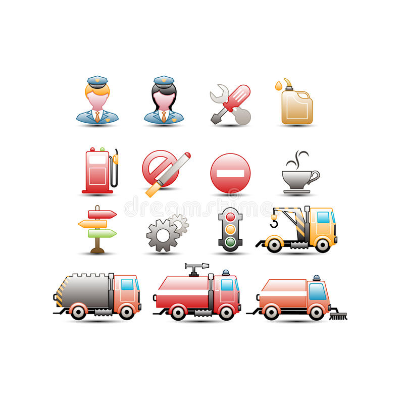 Download Traffic icons stock illustration. Image of cogwheel, service - 34686576