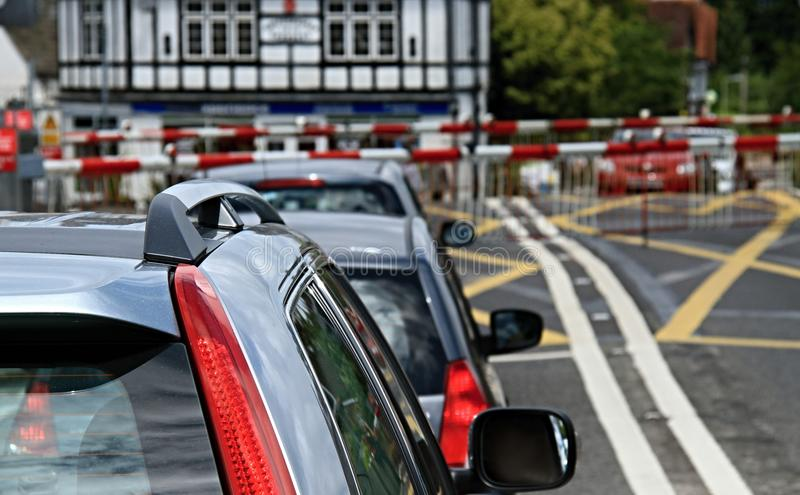 Traffic. Image of cars on a road in the UK royalty free stock photos