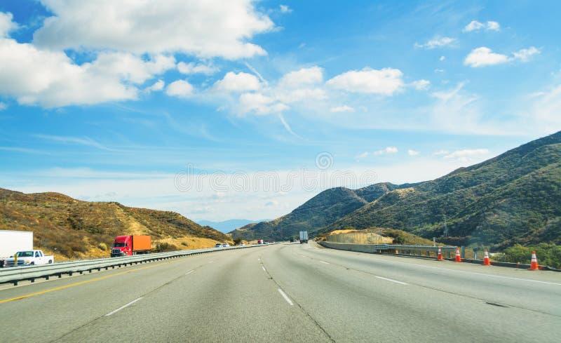 Traffic in Interstate 5 stock photo