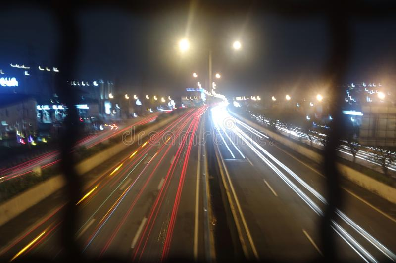 traffic @Jakarta road royalty free stock photography