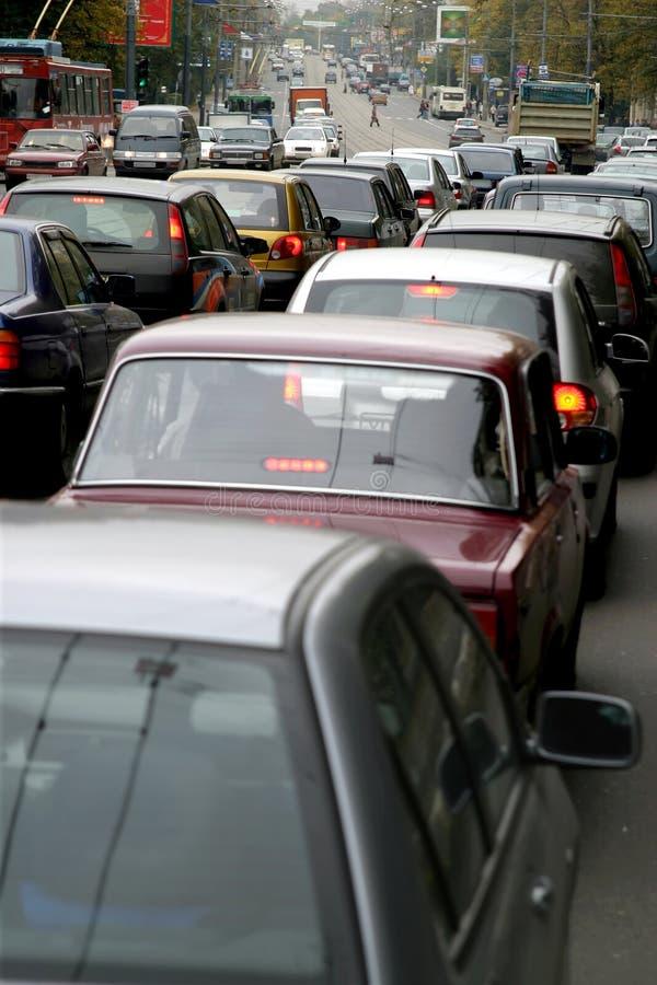 Traffic-jam stock afbeelding