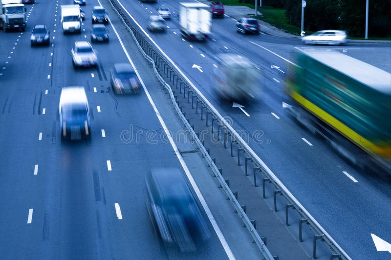 Download Traffic jam with autos stock photo. Image of autobahn - 10987378