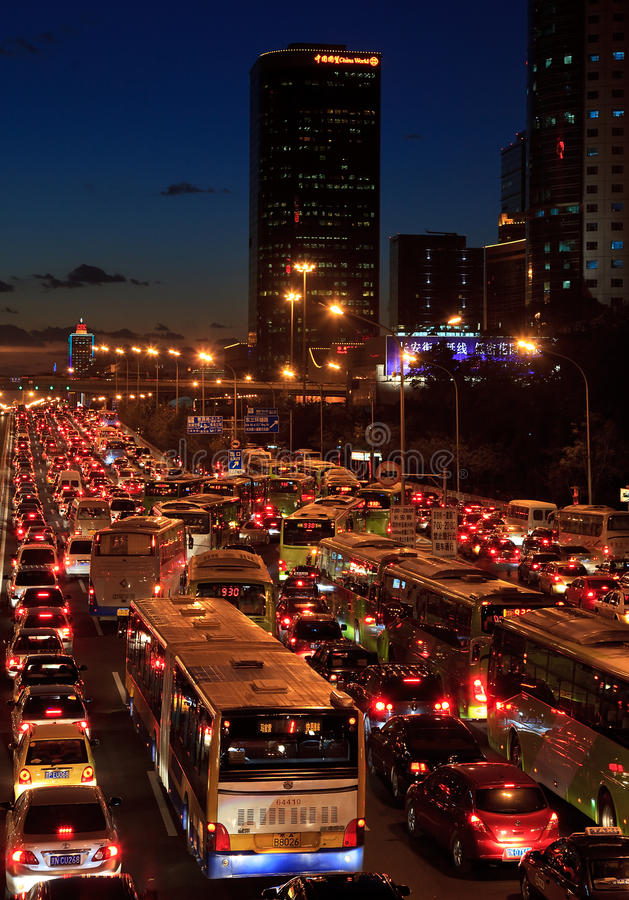 Traffic Jam In Beijing Editorial Photo