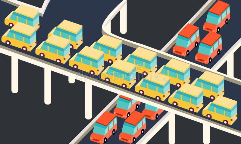 Traffic jam car waiting stuck in line road city. Traffic jams car waiting stuck in line road city ector vector illustration