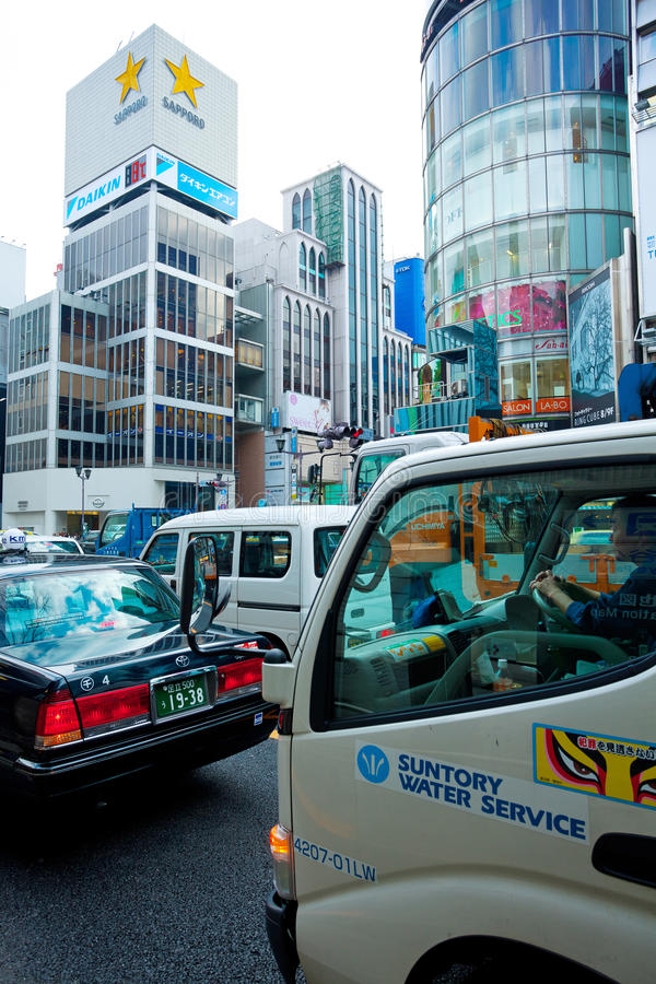 Download Traffic jam in ginza tokyo editorial photography. Image of boutiques - 18598102