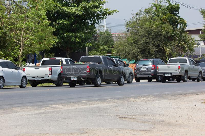 Traffic Jam on highway road near Juction. stock image