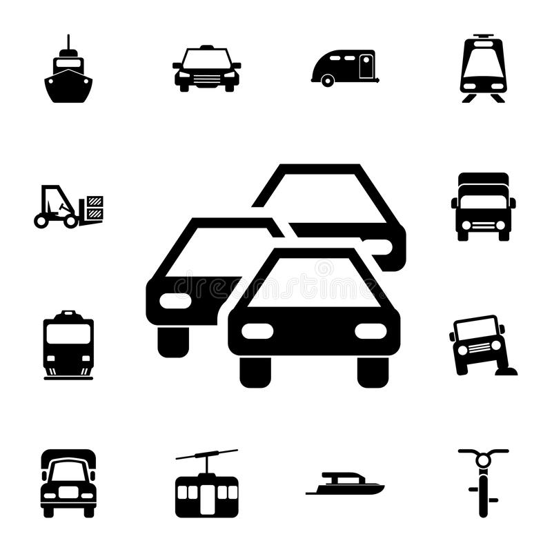 Traffic jam icon. Detailed set of Transport icons. Premium quality graphic design sign. One of the collection icons for websites,. Web design, mobile app on royalty free illustration