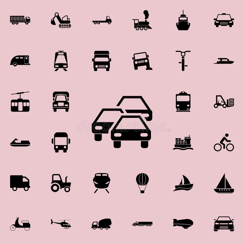 Traffic jam icon. transport icons universal set for web and mobile. On colored background royalty free illustration