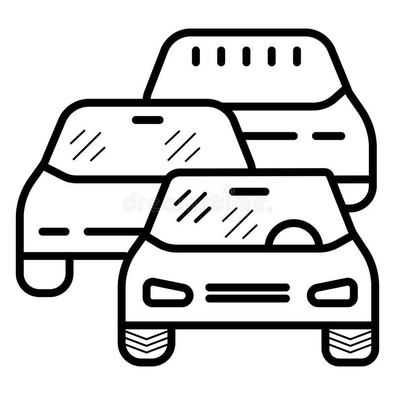 Traffic Jam Icon Vector. Illustration vector illustration