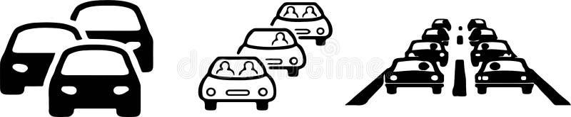 Traffic jam icon on white background. Car,road royalty free illustration