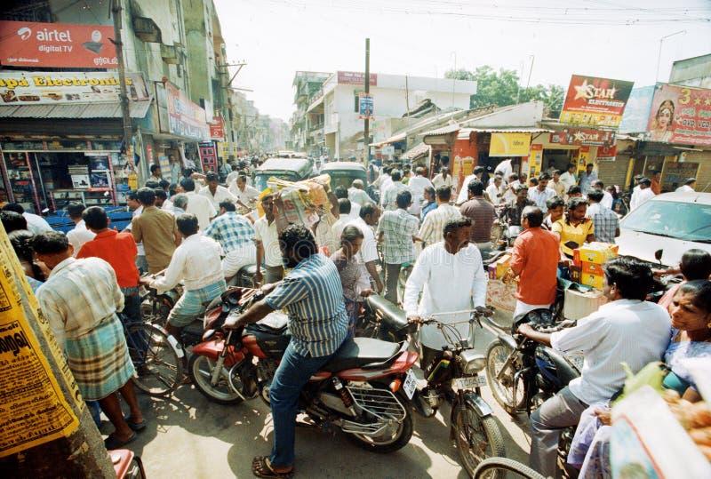 Traffic jam in India royalty free stock image