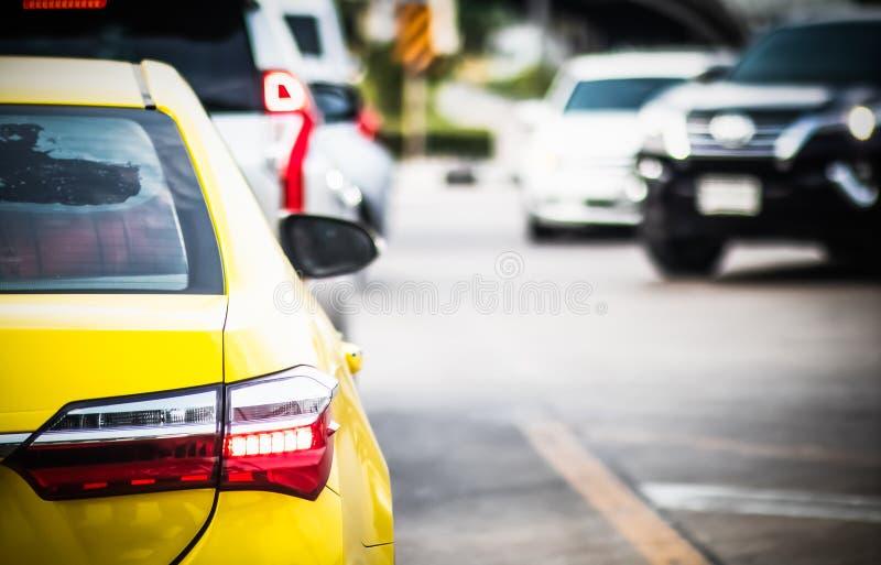 Traffic jam at Rama 3 road Klongtoey Bangkok Thailand. April 22, 2019 royalty free stock images