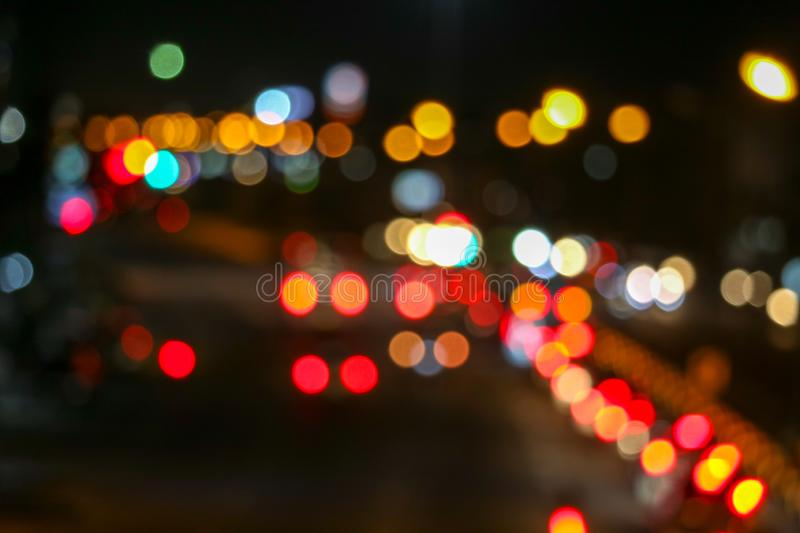 Traffic jam on the road outside the city of the National Day stock image