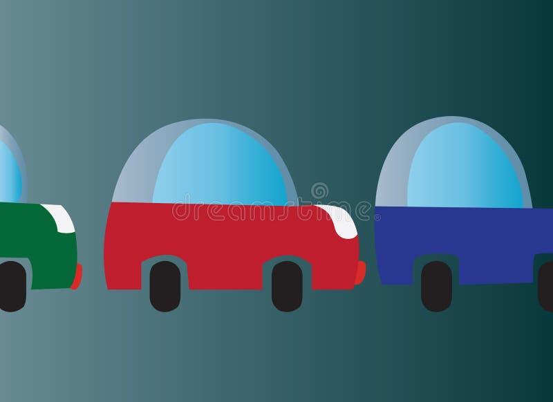 Traffic jammer. Cars stuck in a traffic jam vector illustration