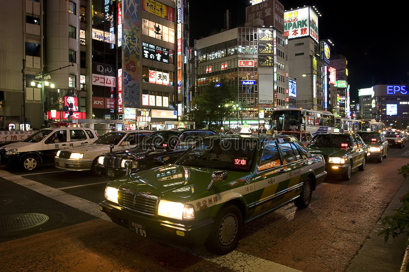 Traffic in Japan royalty free stock images