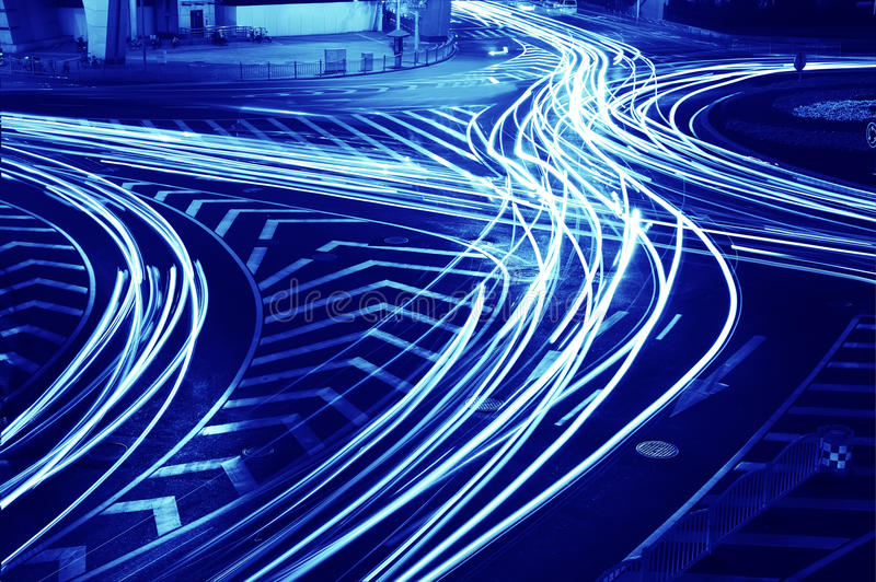 Traffic on junction in city royalty free stock photos