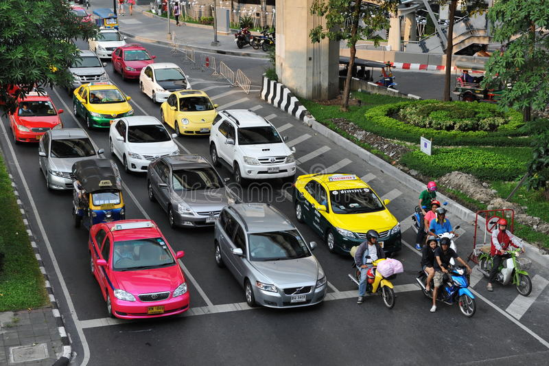 Traffic At A Junction Editorial Stock Image
