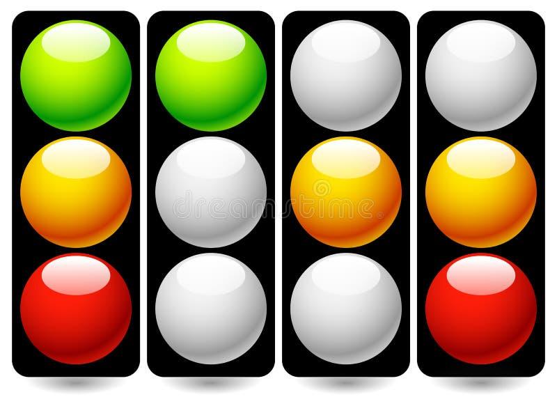 Traffic Lamps / Traffic Lights. Eps 10 Vector Illustration of Traffic Lamps / Traffic Lights royalty free illustration