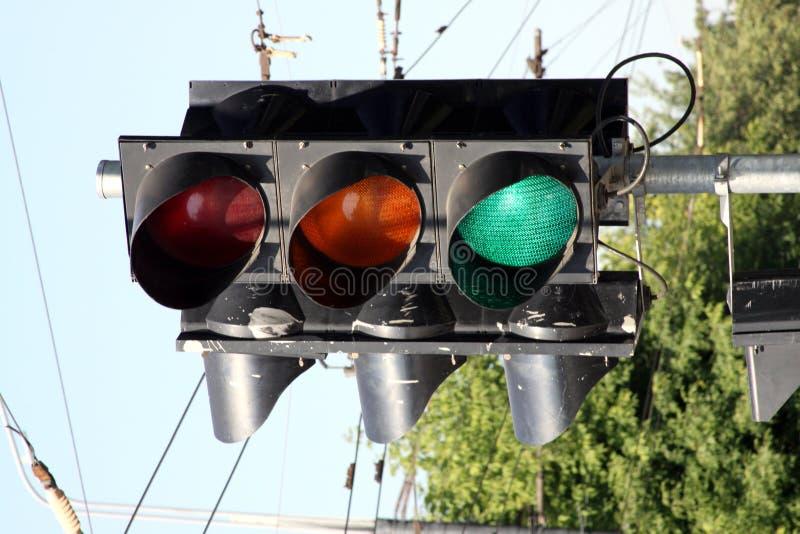 A traffic light royalty free stock photo