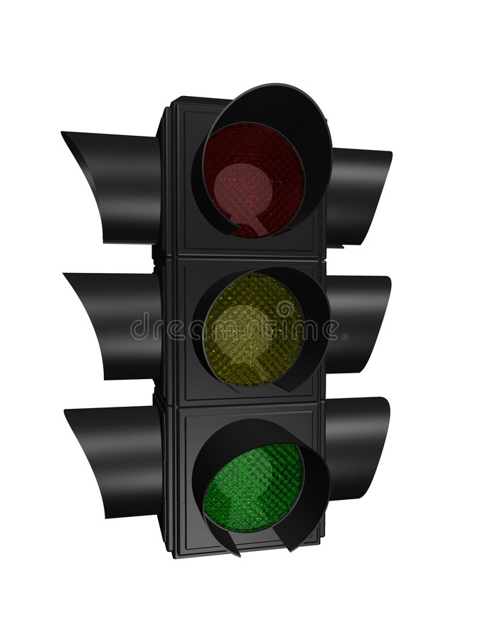 Download Traffic light stock illustration. Image of glow, glass - 1194413