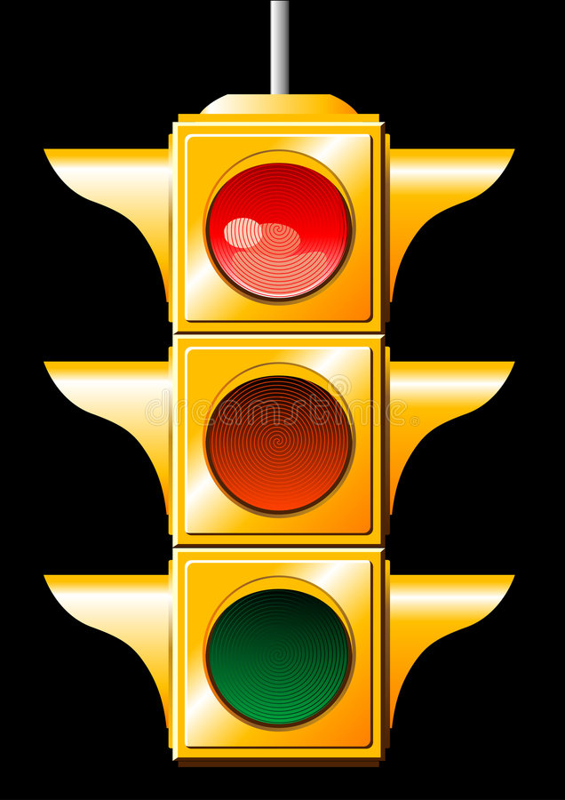 Download Traffic light stock vector. Image of financial, illustration - 3610873