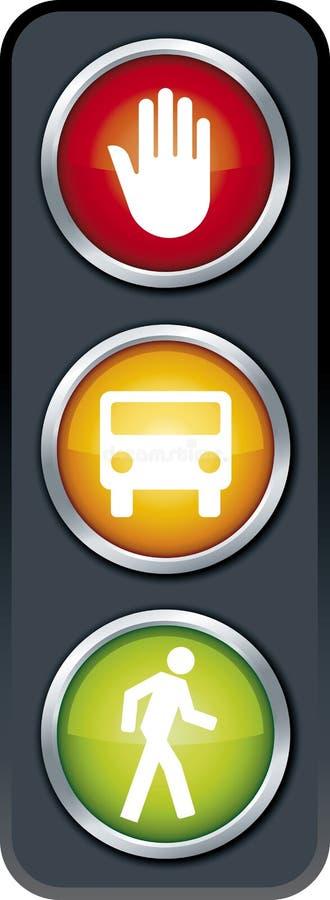 Download Traffic light stock vector. Illustration of vector, stop - 4550894