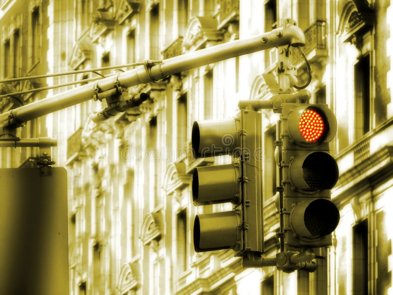 Download Traffic Light stock photo. Image of pause, facade, sepia - 549346